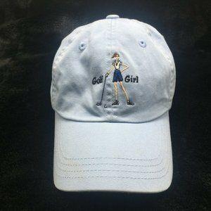 THE GIRLS Baseball Hat Cap Golf Girl Blue Golfing